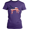 American Flag German Shepherd Dog T-Shirt