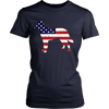Image of American Flag German Shepherd Dog T-Shirt
