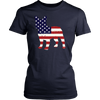 American Flag French Bulldog T-Shirt