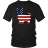 American Flag Yorkshire Terrier Dog T-Shirt