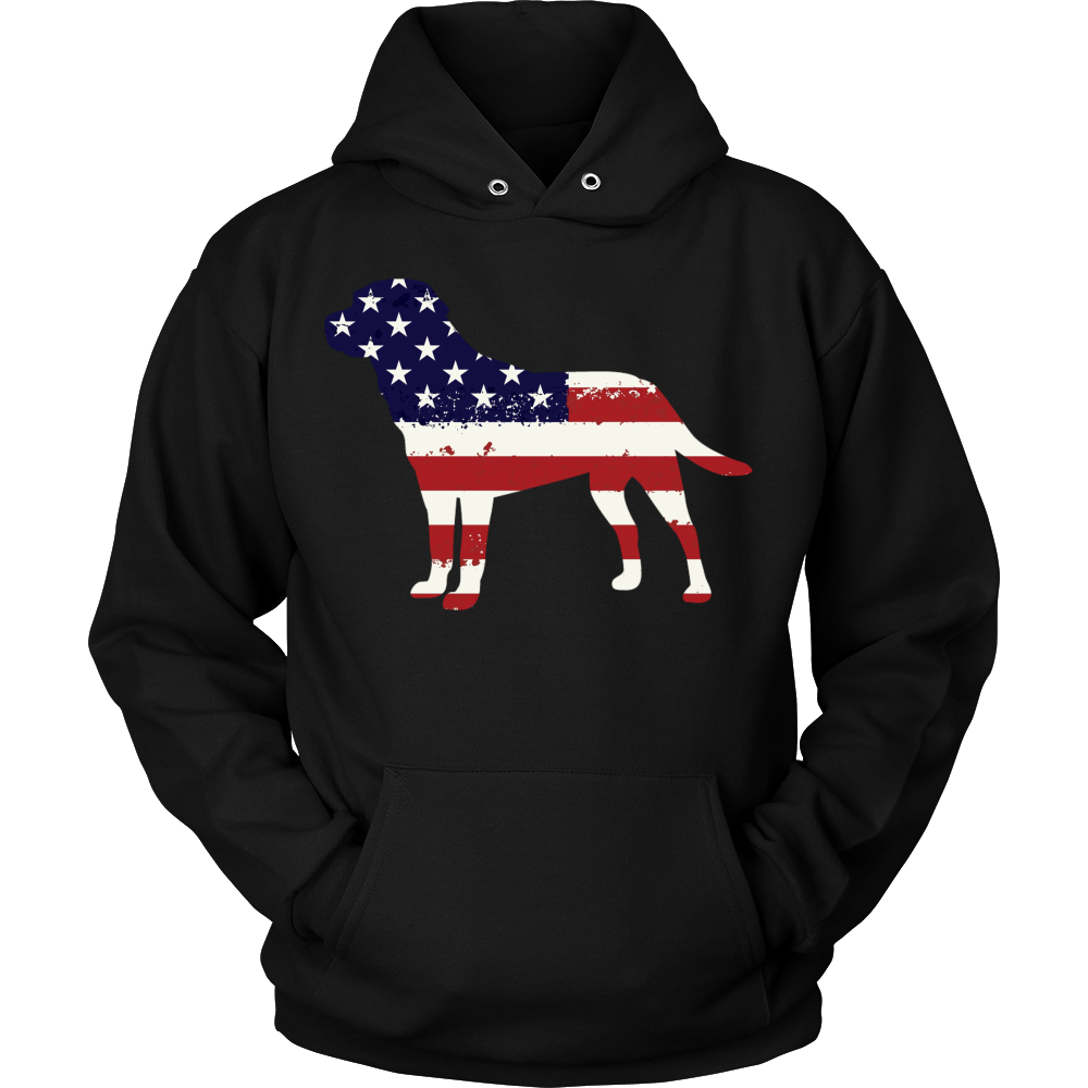 American Flag Labrador Dog T-Shirt