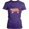 Image of American Flag Golden Retriever Dog T-Shirt