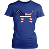 American Flag Beagle Dog T-Shirt