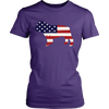 American Flag Bulldog T-Shirt