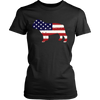 Image of American Flag Bulldog T-Shirt