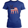 Image of American Flag French Bulldog T-Shirt