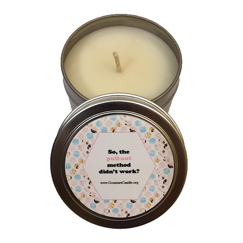 Gifts for Women, Gift Ideas, Unique Gifts Pull-Out Method Pregnancy Candle - Gourmet Candle