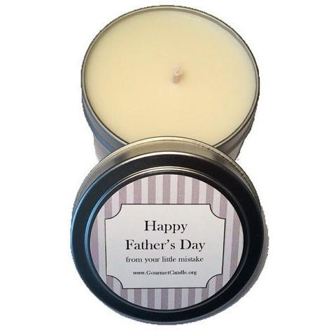 Gifts for Women, Gift Ideas, Unique Gifts Father's Day Gift: Happy Father's Day from your little mistake. - Gourmet Candle