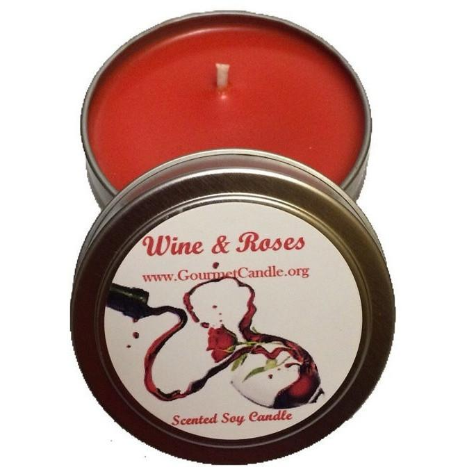Gifts for Women, Gift Ideas, Unique Gifts Wine & Roses Candle - Gourmet Candle