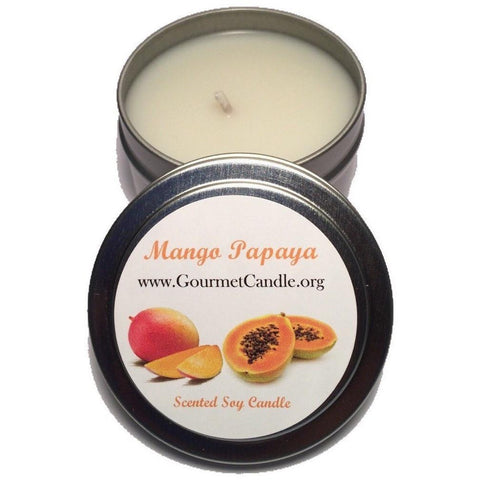 Gifts for Women, Gift Ideas, Unique Gifts Mango Papaya Candle - Gourmet Candle