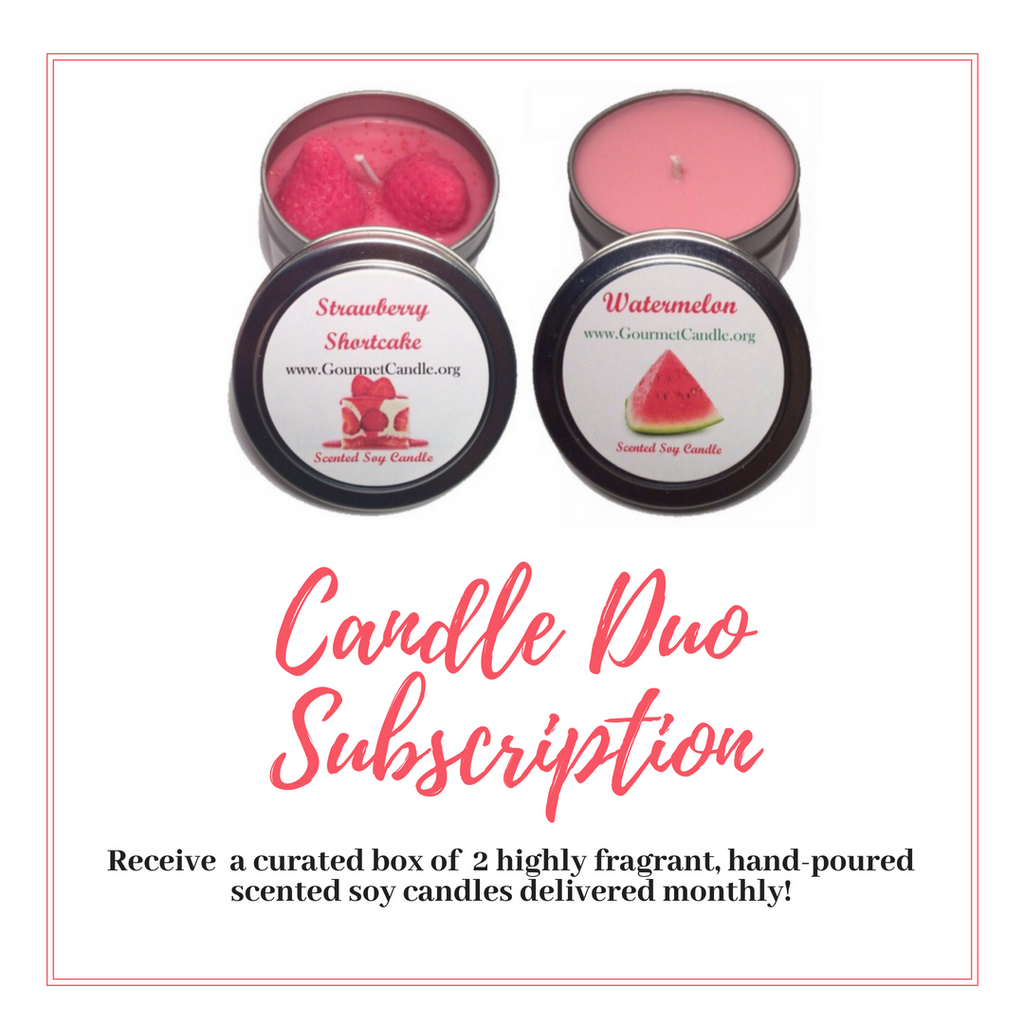 Scented Soy Candle Gift Set Subscription Box for Women Subscription