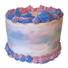 Cotton Candy Birthday Cake - 2 Layer Cake