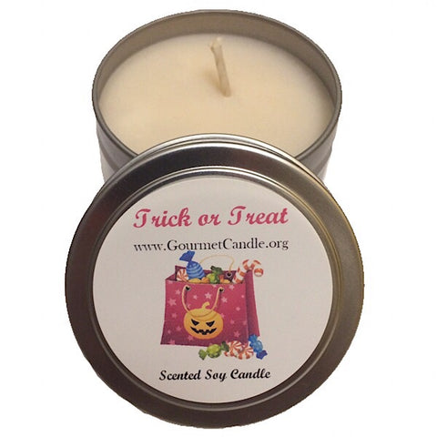 Trick or Treat Halloween Candle