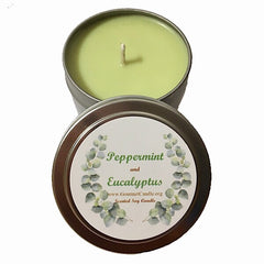 Peppermint and Eucalyptus Candle-NEW!
