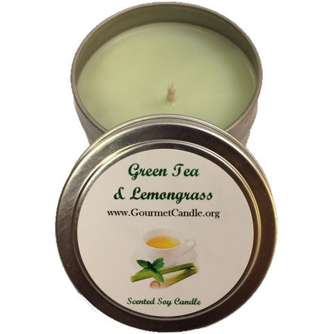 Gifts for Women, Gift Ideas, Unique Gifts Green Tea and Lemongrass Candle - Gourmet Candle