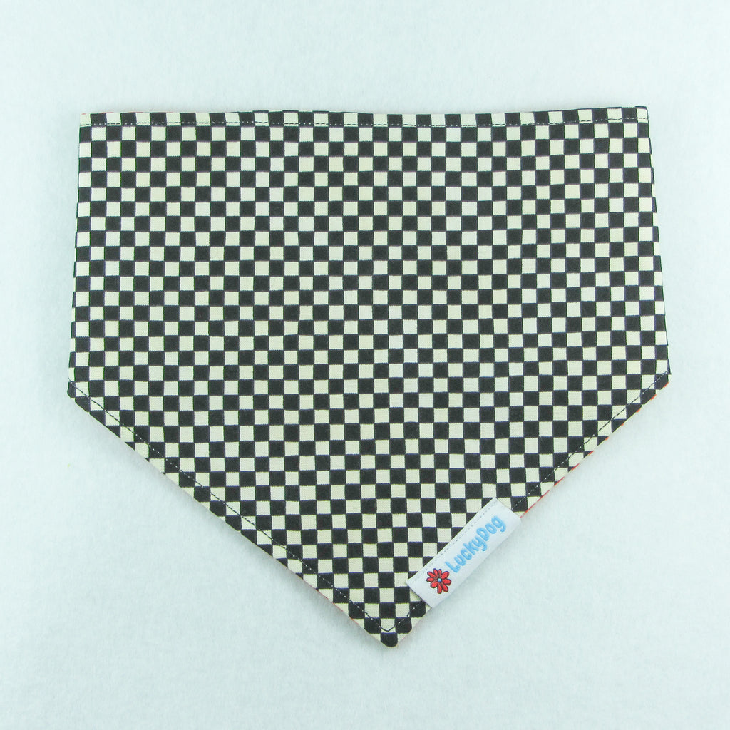 Black & Red Checkered Bandanna