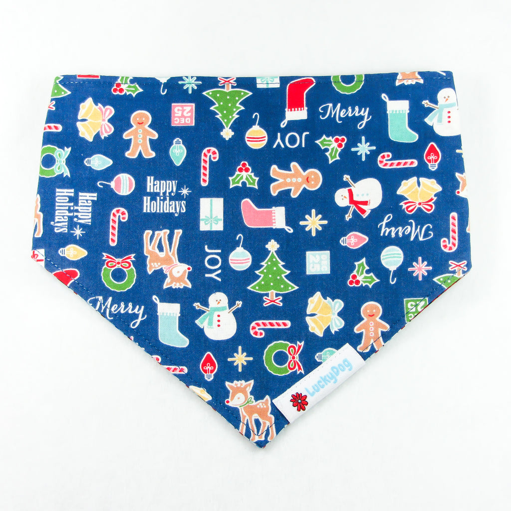 Blue Christmas Bandana