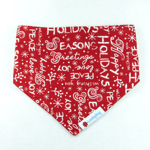 Happy Holidays Bandana