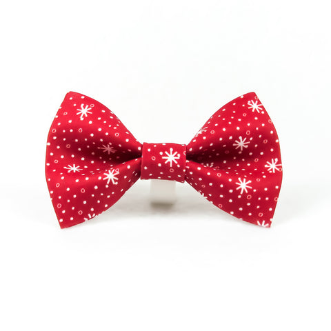 Red Snowflakes Bow Tie