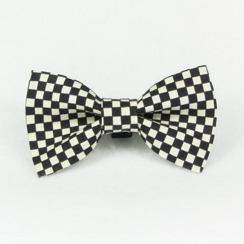Checkers Black Bow Tie