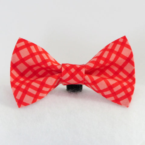 Cross Checks Coral Bow Tie