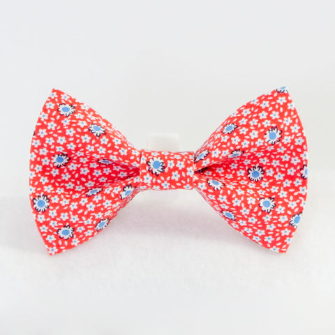 Spring Flowers Orange Bow Tie