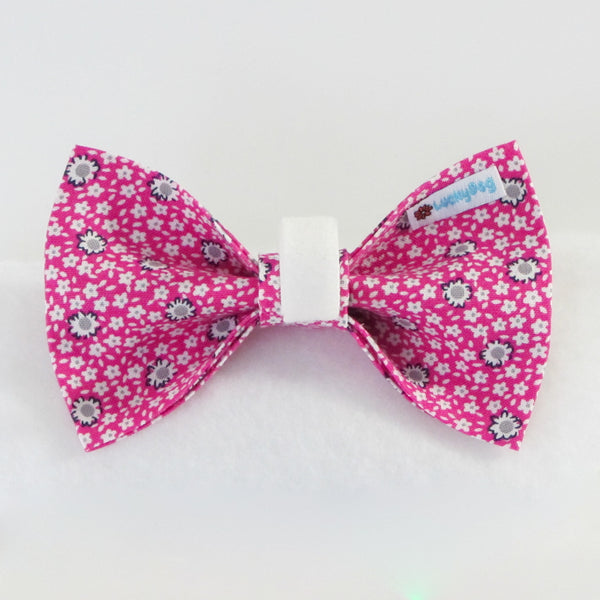 Spring Flowers Pink Bow Tie