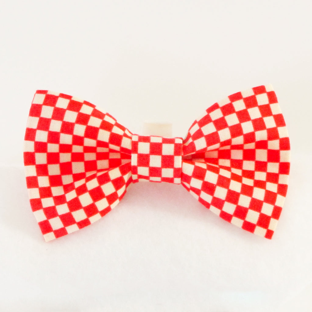 Checkers Red Bow Tie