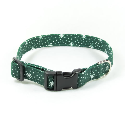 Green Snowflakes Collar