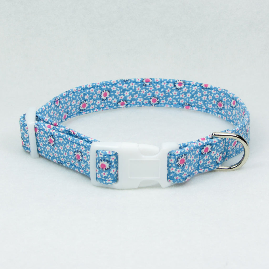 Spring Flowers Blue Collar