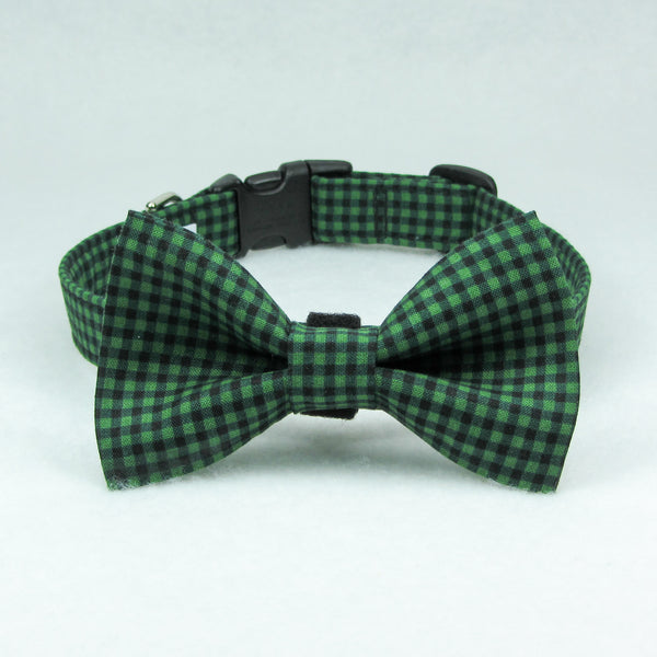 Small Plaid Green Collar