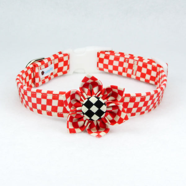 Checkers Red Flower