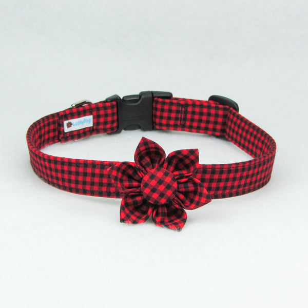 Small Plaid Red Collar