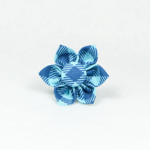 Buffalo Plaid Blue Flower