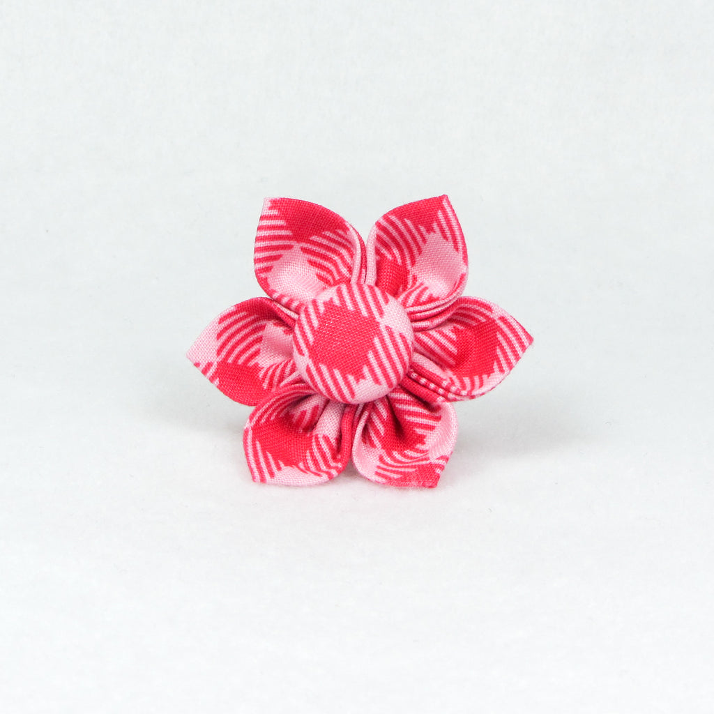 Buffalo Plaid Pink Flower