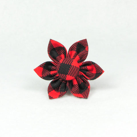 Buffalo Plaid Red Flower