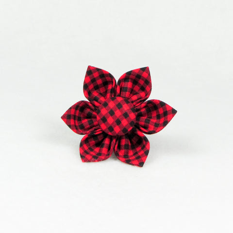Small Plaid Red Flower