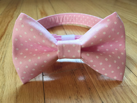 Pretty in Pink Bow Tie & Collar Set