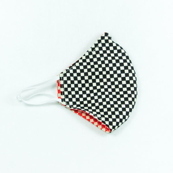 Black & Red Checkers Face Mask
