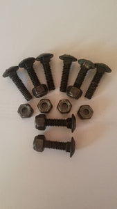 1/4-20 Machine Grade Carriage Bolts