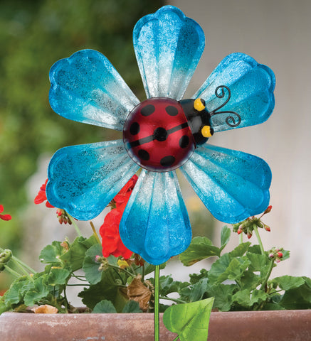 Spinning Flower Lady Bug