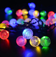 30 LED Crystal Ball Solar Powered String Lights