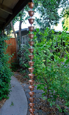 Rainchains - Pure Copper Bells Rain Chain - 3124