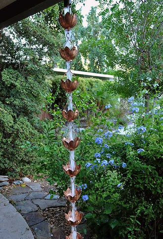 Rainchains - Buddha's Extra-Large Copper Cup Rain Chain - 3157