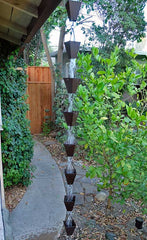 Rainchains - Bronze Tapered Square Cup Rain Chain - 3178-BRZ