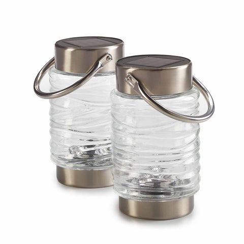 Solar Wave Lantern 2-Pack - Clear