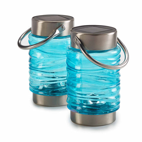 Solar Wave Lantern 2-Pack - Blue