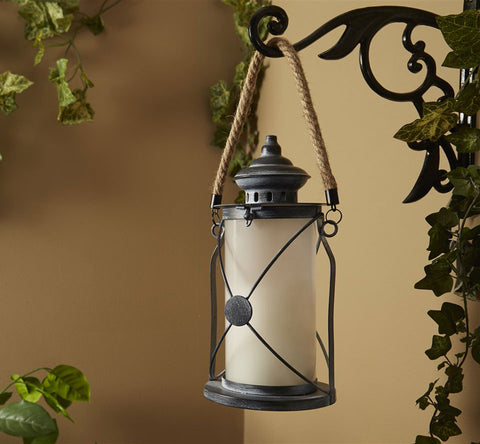 Walden Candle Lantern with Dancing LED Flame