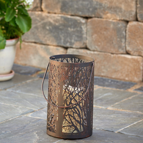 "Arboretum 8"" H LED Candle Lantern - Antique Black"