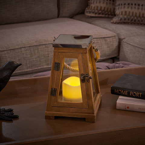 "Newport 9"" LED Candle Lantern"